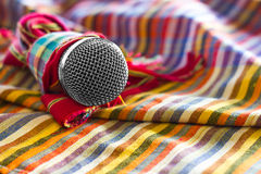 Loincloth with microphone. Royalty Free Stock Image