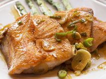Loins grilled salmon stock image