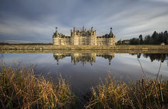 Loire Castle and Lake Royalty Free Stock Photos
