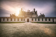 Loire Castle in the Sun Stock Image