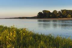 Loire River Öar och sanbanks royaltyfri foto