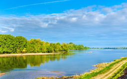 The Loire river between Angers and Saumur, France Royalty Free Stock Images