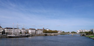 Loire river in Nantes city Royalty Free Stock Photography