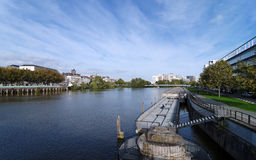 Loire river in Nantes city Stock Photos