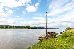 Loire river near Saint Clement des Levees(France) Stock Photo