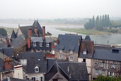 Loire river valley in France Stock Photos