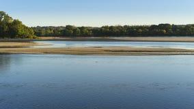 Loire rzeka Wyspy i sanbanks zdjęcia stock