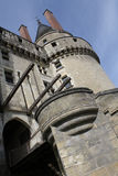 Loire Valley langais castle angled Royalty Free Stock Photo