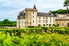Castle of Villandry in the Loire Valley area in France stock photos