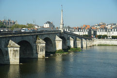 Loire Valley River and Town Stock Photos