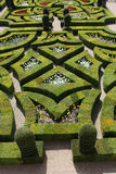Loire Valley Villandry Love Gardens. Loire Valley Villandry close up of Love Gardens Stock Photo