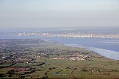 Loire widok rzeczny bagno Zdjęcie Stock