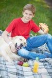 Loisirs avec le chien Photos libres de droits