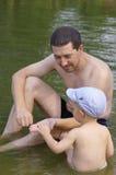 Loisirs dans le lac Images libres de droits