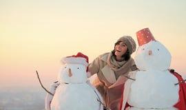 loisirs de Noël et activité d'hiver photographie stock