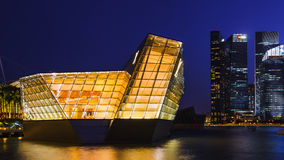 Loius Vuitton store at Marina Bay, Singapore , twilight Stock Photos