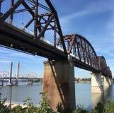 Louisville 1. Converted rail bridge stock photo