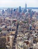 Loiwer Manhattan linii horyzontu widok z lotu ptaka Zdjęcia Royalty Free