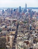Loiwer Manhattan Skyline Aerial View Royalty Free Stock Photos