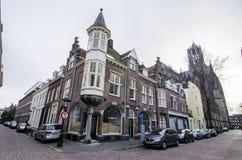 Loja acolhedor da cidade com muitas etiquetas coloridas Países Baixos, utrecht Fotografia de Stock