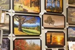 Loja Amish do mercado, várias fotos que penduram na parede foto de stock royalty free