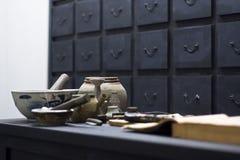 Loja antiga chinesa da medicina Foto de Stock