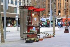 Loja bonito do cacto na rua de Swanston Foto de Stock