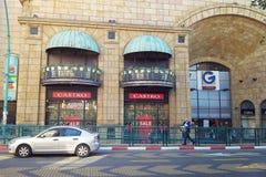 Loja Castro da forma no shopping Rothschild Fotografia de Stock Royalty Free