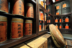 Loja chinesa do chá Fotos de Stock Royalty Free
