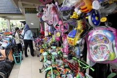 Loja da bicicleta Imagens de Stock