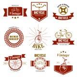 Loja da bicicleta e logotipo do reparo Imagens de Stock Royalty Free