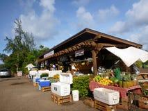 Loja da borda da estrada das explorações agrícolas da terra de Kahuku Fotos de Stock