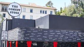 Loja da comédia na tira do por do sol - local de encontro famoso para comediantes - LOS ANGELES - CALIFÓRNIA - 20 de abril de 201 Fotografia de Stock Royalty Free