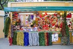Loja da decoração do Natal Foto de Stock Royalty Free