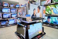 Loja da eletrônica em Hong Kong fotografia de stock royalty free