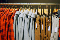 Loja da roupa fotografia de stock