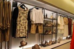 Loja da roupa das mulheres Foto de Stock