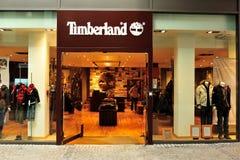 Loja da roupa do Timberland Fotos de Stock Royalty Free