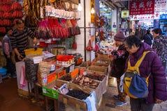 Loja da salsicha Fotos de Stock