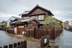 Loja da tradição na vila de Sawara em Katori, Chiba, Japão imagem de stock
