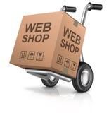 Loja da Web Foto de Stock