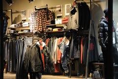 Loja das calças de brim de Lee Foto de Stock