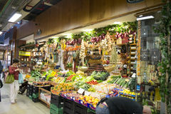 Loja das frutas e legumes Fotos de Stock Royalty Free