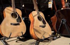 A loja das guitarra Fotos de Stock