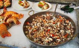 Loja de alimento do mar Fotos de Stock