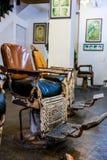 Loja de barbeiro velha Imagem de Stock Royalty Free