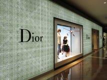 Loja de capitânia de Dior Fotos de Stock