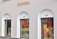 Loja de capitânia de Hermes, Moscou Fotografia de Stock