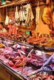 Loja de carne de Barcelona Fotografia de Stock