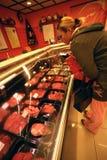 Loja de carniceiro Fotos de Stock